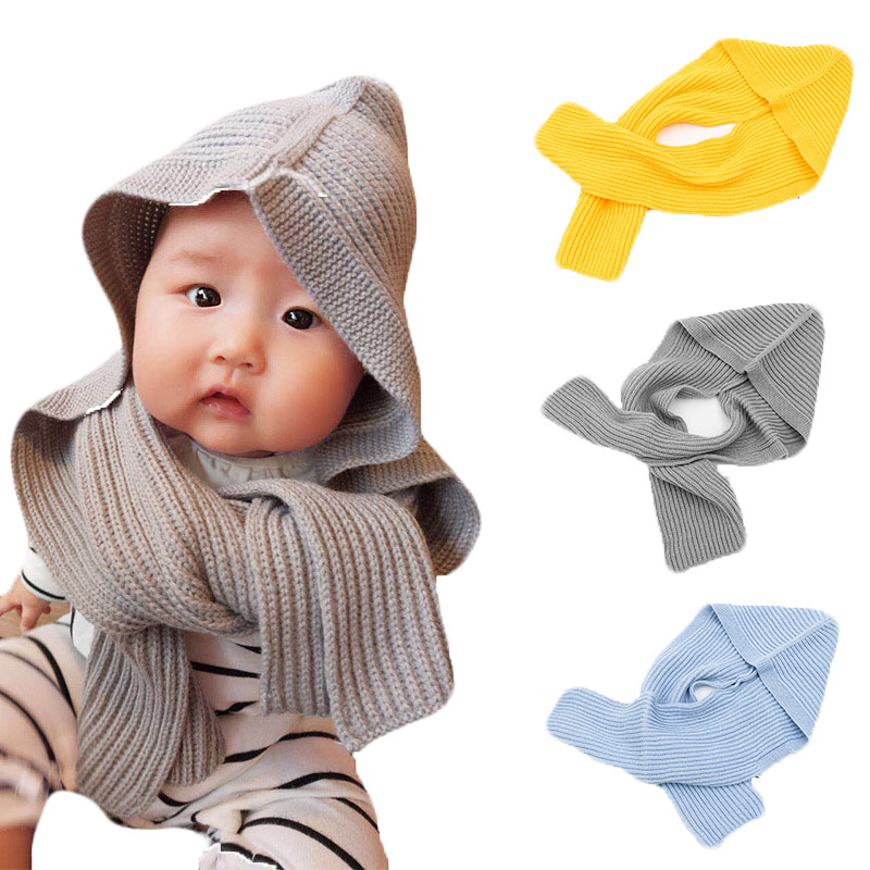 Autumn Winter Baby Cotton Beanies Cap Parent-child Hat Boys Girls Adults Warm Knitted Hat with Scarf  Children's New Wool Hat