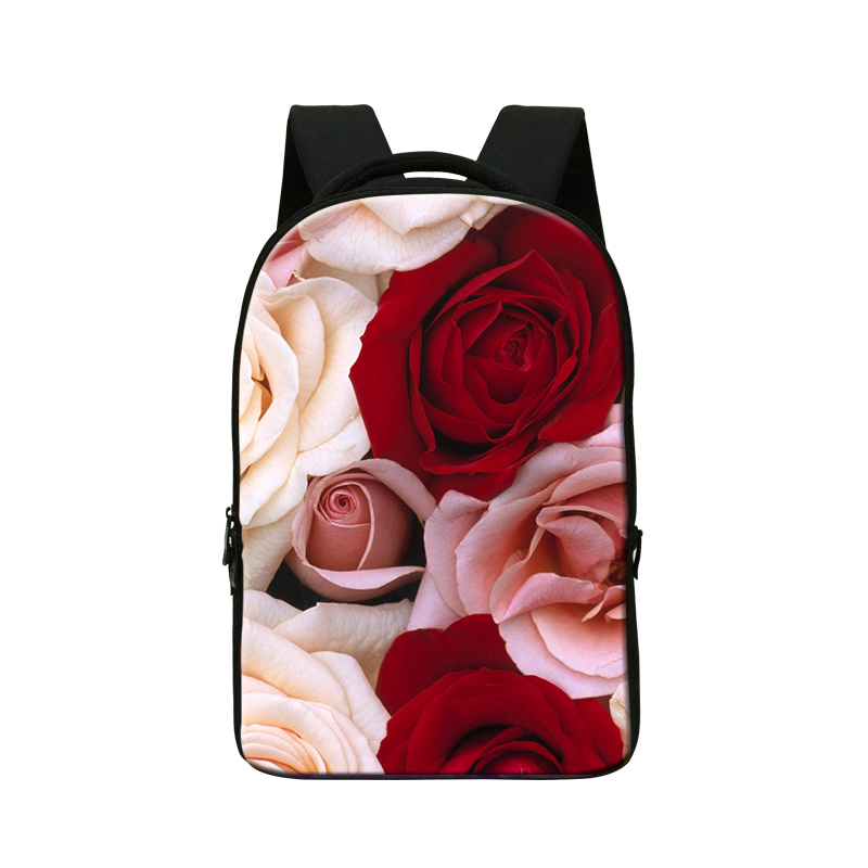 Five Star School Backpack,Holds 14 Inch Laptop school backpack for girl,3D flower printing bookbags for teenagers traveling bags<br><br>Aliexpress