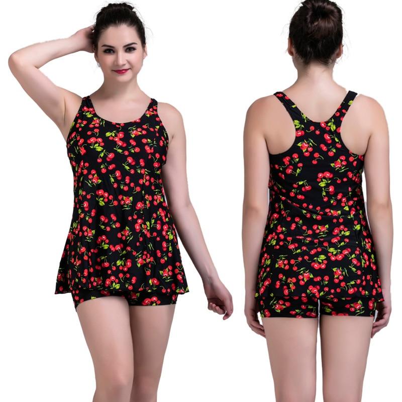 Monokini bathing suit Pluse Size ONE Pieces Cover-up Skirt&amp;short summer 6 colors Safe Swimwear S-3XL swimsuit maillot de bain <br>