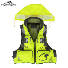 L-XXL Men Women Fishing Life Jacket Outdoor Sportswear Safety Life Vest For Boat Drifting Survival Swimwear Colete Salva-Vidas(China)