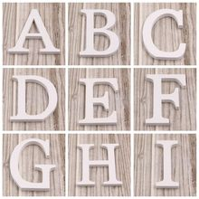 New!1PCS 8CM 26 Freestanding A-Z Beautiful Wooden White Letters Wedding Photo Props Alphabet For Home Wedding Party Decorations