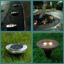 Pack of 5 Stainless Steel Waterproof Solar Powered LED Underground Buried Lighting Outdoor Landscape Garden Lamp Stairs Light