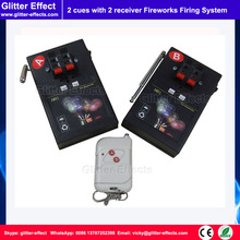 1 button remote control 2 receiver Stage indoor fountain pyrotechnic Igniter Fireworks firing system machine