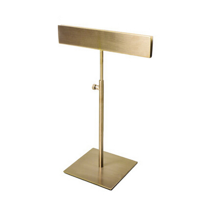 Metal Poster Stand, Polished Gold Poster Display Rack A4 A3 Tabletop Display<br>