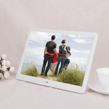 2016 Hot 1280*800 Digital 15inch HD TFT-LCD Photo Picture Frame Alarm Clock MP3 MP4 Movie Player with Remote Control Wholesale