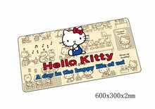 hello kitty mouse pad 60x30cm pad to mouse mat notbook computer mousepad Customized gaming padmouse gamer to laptop mouse mats(China)