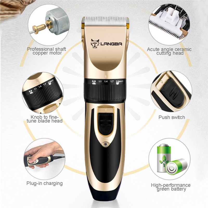 Professional Pet Grooming Set Dog Cat Nail Clippers Kit Rechargeable Pet Cat Dog Hair Trimmer Shaver Set Groomer Tool04