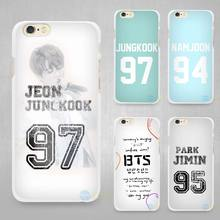 Bangtan BTS Number Hard White Cell Phone Case Cover for Apple iPhone 4 4s 5 5C SE 5s 6 6s 7 8 Plus X(China)