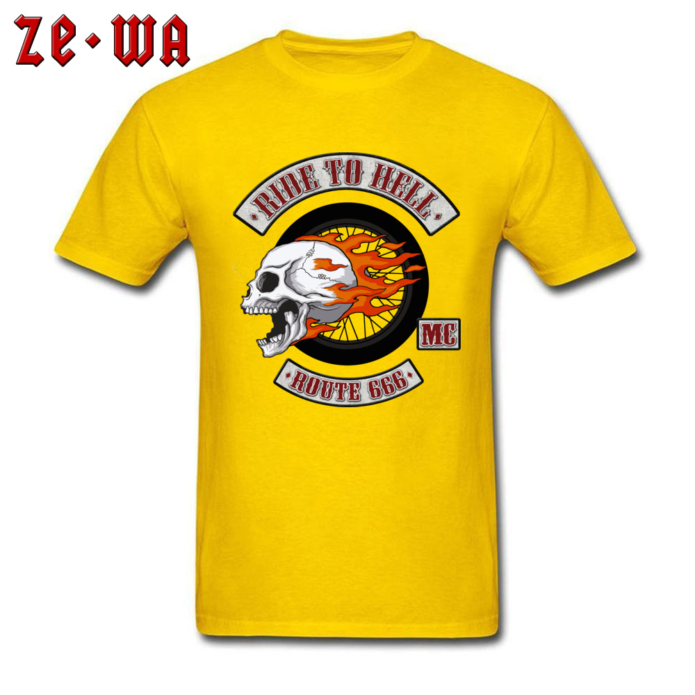 2018 Newest Men's T Shirt Rider Logo Printed T Shirts 100% Cotton Short Sleeve Printed Top T-shirts O-Neck Wholesale Rider Logo yellow