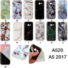 For Samsung Galaxy A520 A5 2017 Phone Case Shell For A5 2017 Cover For A500 A510 A520 Soft TPU Marble Lines Design