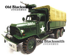 Classic World War II Armaments Truck Model Iron Transport Vehicle Models Free Shipping