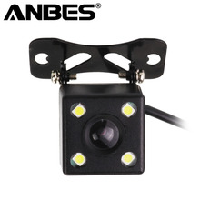 Anbes Night Vision Reverse Camera HD CDD Rear View Camara Lens 2.5mm Jack With 6 Meters Cable For Car DVR Mirror Recorders(China)