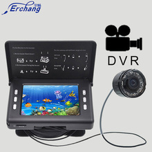 "Erchang Underwater Fish Finder Camera DVR Video 3.5""HD LCD Screen 15M Infrared Lamp ICE Fishing In English Russian Fish Finders(China)"