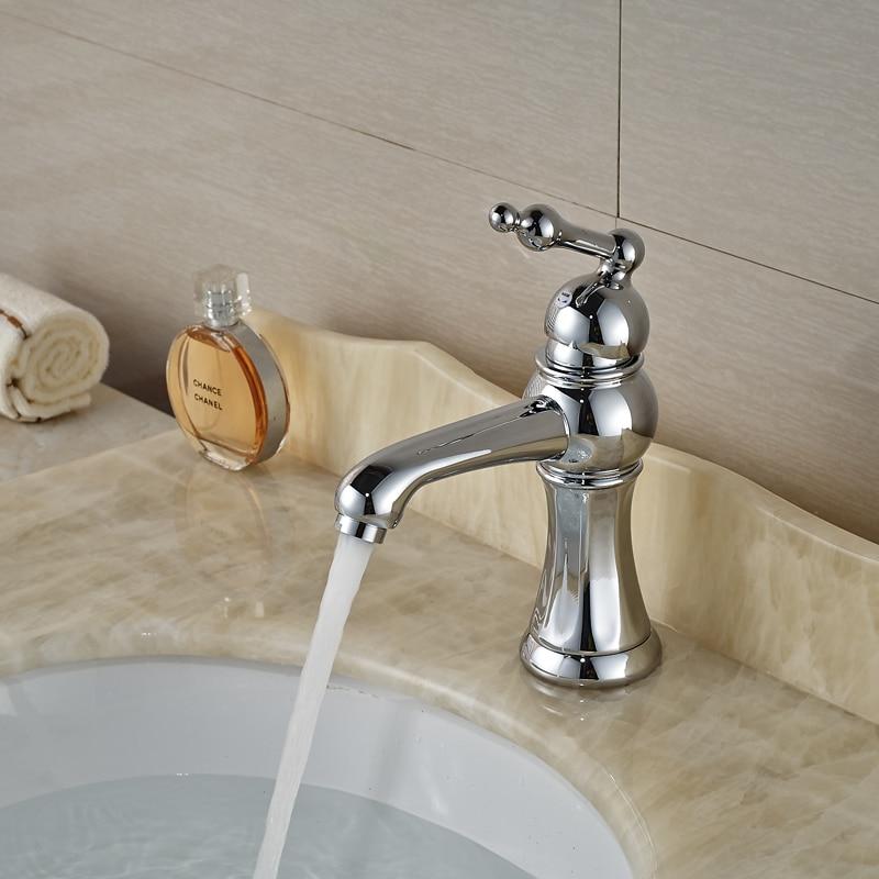 Single lever bathroom faucet