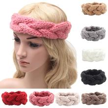 Discount!! women winter accessories solid elastic hair bands hair accessories for women head bands for women headdress Vicky(China)