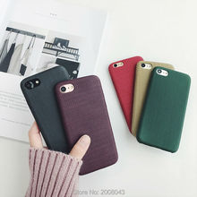Simple Wave Texture PU Case for iPhone6 6s 6splus 6plus 7 7plus Case Soft Korean Style [Low Price for you!]