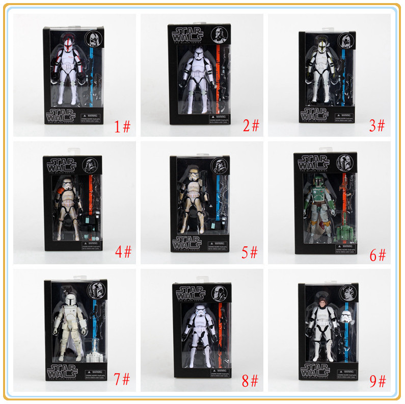 Star Wars The Black Series 6 Boba Fett /stormtrooper/ Sandtrooper/ Han Solo/Clone Trooper Captain Action Figure In Box<br><br>Aliexpress