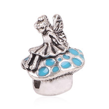 Hot Sale TOP Quality Silver Color Forest fairy Charm Beads with Crystal Fit Pandora Bracelet Original For Women DIY Jewelry