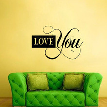 DCTOP Removable Vinyl Wall Decals Bedroom Design Love You Art Wall Stickers Home Decor