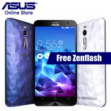 Hot ASUS Zenfone 2 Deluxe ZE551ML 4GB RAM 16GB ROM Smartphone Dual SIM Intel Z3560 Android 5.0 Quad Core 1.8GHZ Mobile Phone(China)