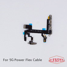 10pc/Lot Power Button Switch On/Off Flex Cable Metal Bracket Assembly Ribbon Replacement For iPhone 5 5G Repair Parts(China)