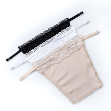 3pcs/Lot Women's Wrapped Chest Sexy Lace Anti Emptied Boob Tube Top Metal Buckle Corset Cover Free Shipping(China)