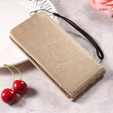 Dulcii Mandala Flower PU Leather Stand Vertical Mobile Casing for Samsung Galaxy A5 2017 A520 Case Cover
