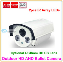 Lihmsek IP66 Waterproof IR Bullet CCTV AHD Camera 2.0 Megapixel 1080P Security Camera HD(China)