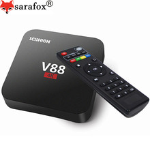 10PCS V88 Android 6.0 TV Box RK3229 1G+8G 4 USB 4K x 2K 60fps KODI 16.1 WiFi DLNA Media Player European IPTV SET TOP BOX