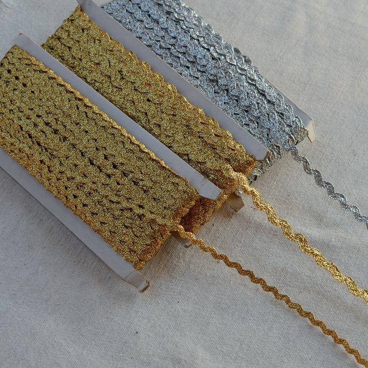 1 M Ribete Metálico Plata//Oro Recortar Cinta Tapicería Costura Artesanía lacetrim