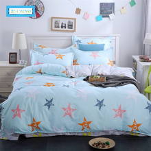 BEST.WENSD Family Kids Bed Linens 100%Cotton High Quality The Simple Cartoon Style Bedding Set For 1or2 Person Duvet Cover