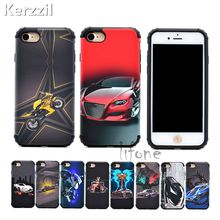 Kerzzil Fashion 2In1 Armor Painted Car Case For iPhone 7 6 6S Plus With Magnet Use by Car Holder Phone Back Cover For iPhone 6 7