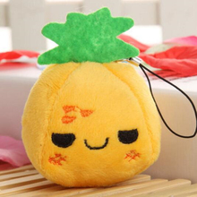 Buy 5 get 5! 7cm pineapple Mini Doll Pendant for baby cradle Best child educational toys Let children know fruits and vegetables(China)