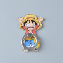 Koteta Anime One Piece Luffy Straw Hat Sanji 360 Degree Metal Finger Ring Mobile Phone Smartphone Stand Holder for iphone ipad(China)