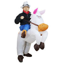 New Christmas Costumes Funny Inflatable White Horse Costume Women Cosplay for Carnival Halloween Costumes for Women Men