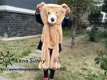 100cm The American Giant Bear Skin plush toys,Semi-finished products teddy bear skin