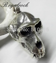 Regalrock RegalrockHot Fashion 3D Apes Cranium Dinosaur Skull Pendant Necklace(China)