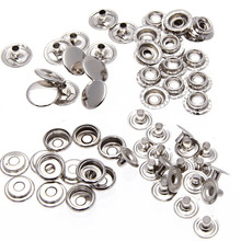 50pcs/set Metal Sewing Press Studs Buttons Snap Fastener Clothes Coat Jacket Clothing Decoration DIY Garment Accessories 15mm