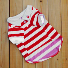 2016 New Arrival Puppy Pet  Dog Clothes Fashion Striped Roupas Para Cachorros Small Dogs Vest T Shirt Free shipping&Wholesale