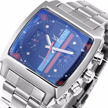 WINNER Men Fashion Mechanical Wrist Watch Stainless-steel Strap Strap Unique Design Automatic-self-wind