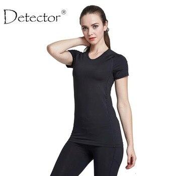 Detector de las mujeres corriendo de secado rápido de manga corta camiseta de fitness gimnasio tops mesh patchwork clothing deporte yoga t-shirt camisetas