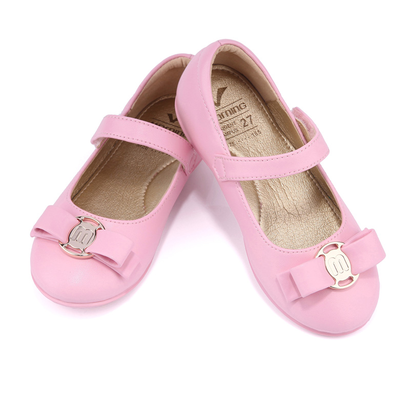 new spring autumn pink girls shoes comfortable leather flat for children shoes catwalk shoes princess kids shoes free shipping<br>