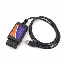 Car Auto Diagnostics Interface Scanner OBD2 ELM327 V1.5 USB Scanner Car detector Diagnostic Tool(China)