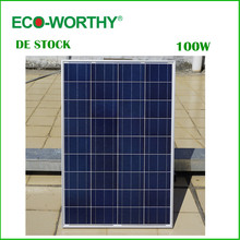 DE Stock No Tax 100W 18V Polycrystalline Solar Panel for 12v Battery Off Grid System Solar for Home System Free Shipping(China)