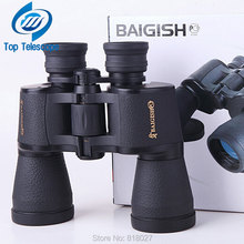 Baigish Binoculars 20X50 High quality wide angle Central Zoom Night Vision telescope golden type for hunting telescopio new(China)
