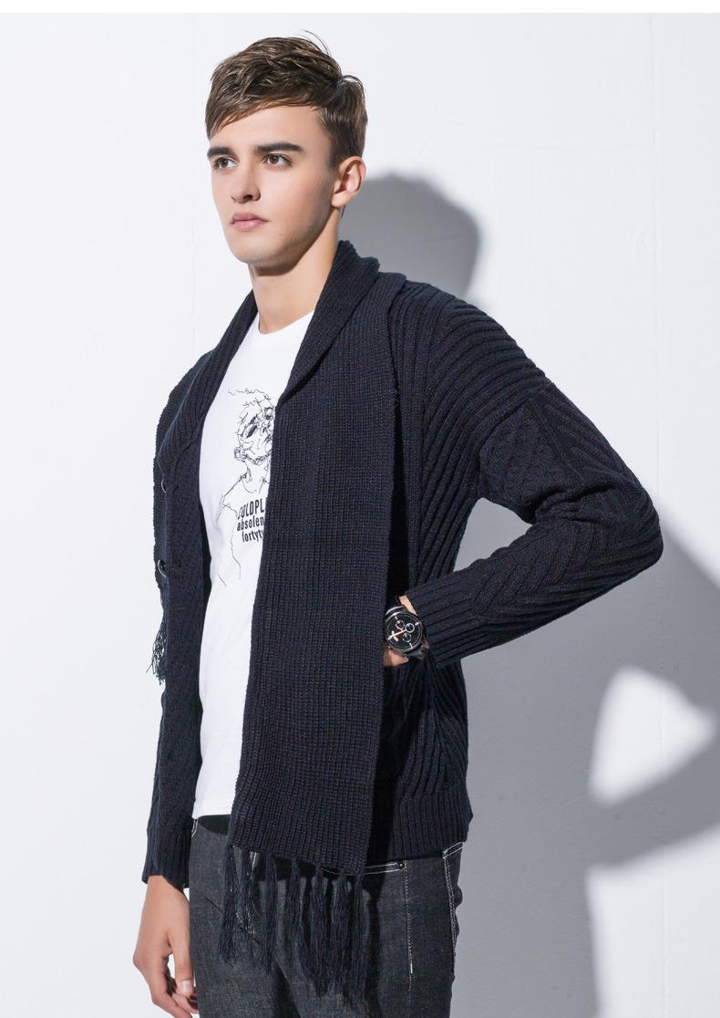 Winter Men Cardigan Coat Thicken Loose Fit Warm Turtleneck Sweater Men Autumn Knited Male Sweatercoat Black Brand Muls M-4XL-01