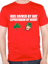 2017 Rushed Design Your Own Tee Shirt O-neck Men Bus Driver By Day Leprechaun Travel For Coaches Cotton Short Sleeve Shirts