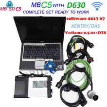 New MB Star C5 for star Diagnosis Tool with 09/2017 software vediamo 05.01+DTS with for Dell D630 Laptop MB star sd connect 5