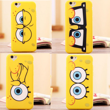 High quality New 3D Cartoon SpongeBob Soft Silicon Case Back Cover Skin Phone Bags For iphone 5 5S SE 6 6S Plus Cases For iphone(China)