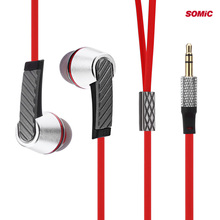 Somic L3 Fashion Portable Super Bass Music In-ear Earphones Flat Cable for Andriod IOS Phone